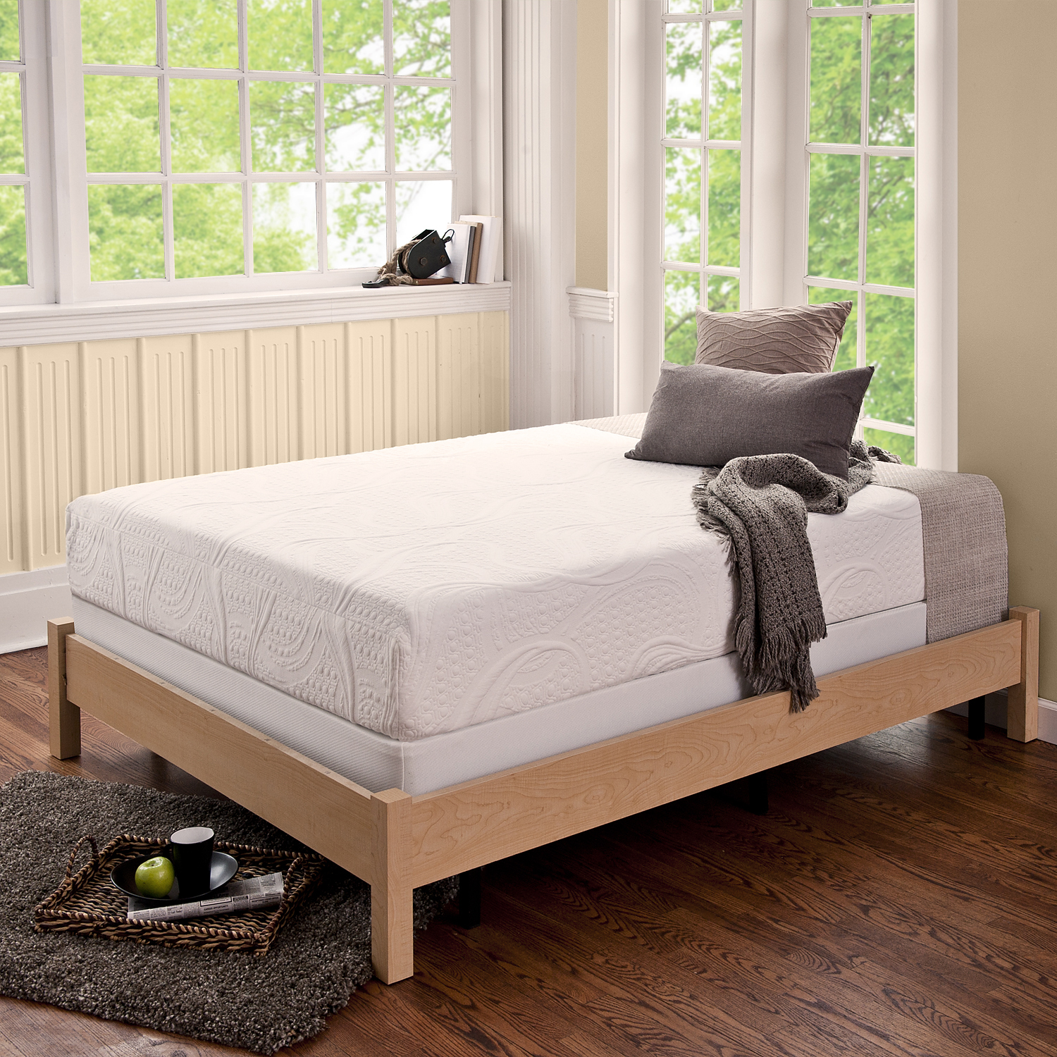 Simple Queen Mattress And Boxspring Set