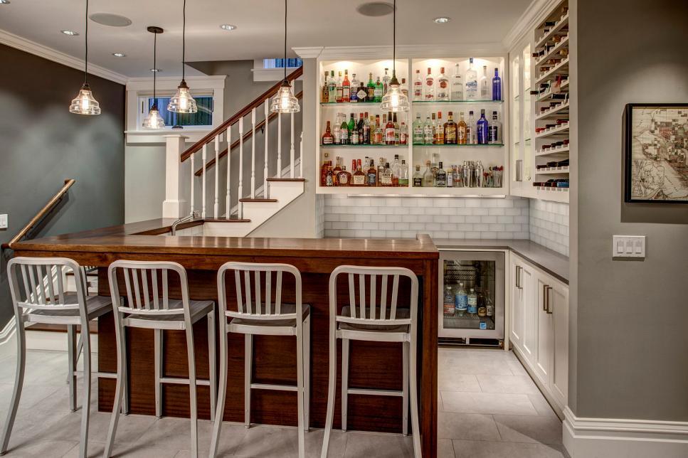 Small Basement Bar Idea