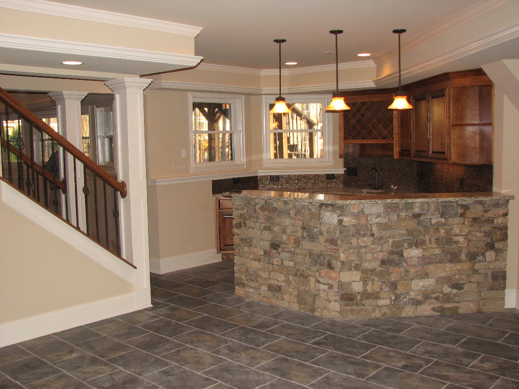 Image of: Small Basement Bar Ideas Images