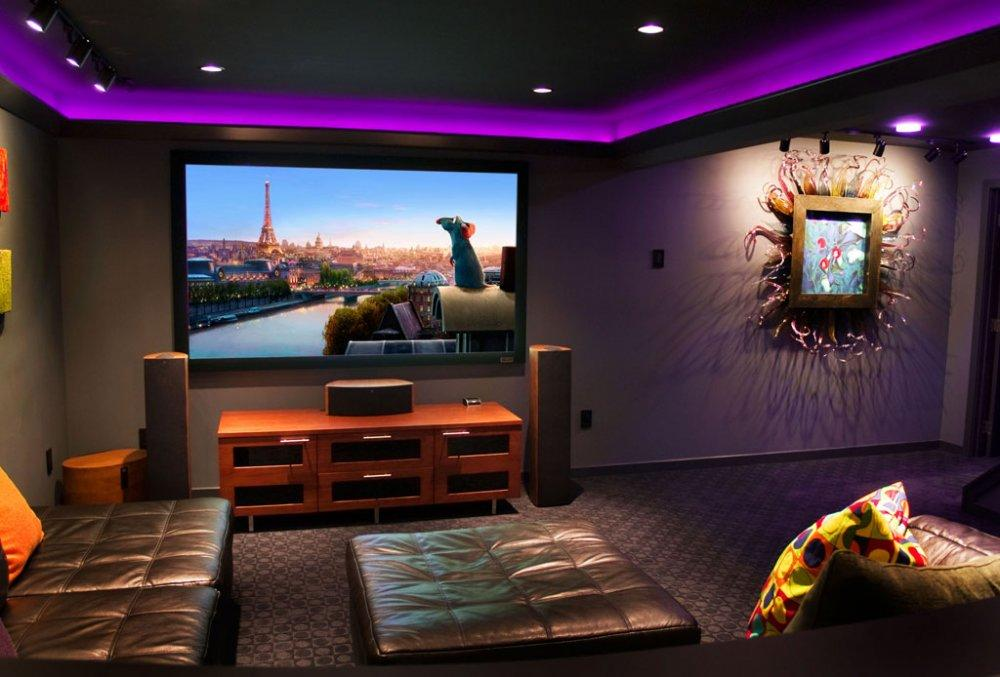 Image of: Small Basement Home Theater Ideas Amazing