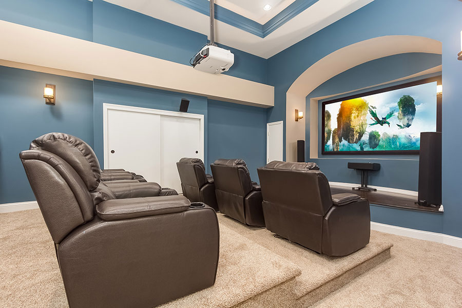 Image of: Small Basement Home Theater Ideas Awesome