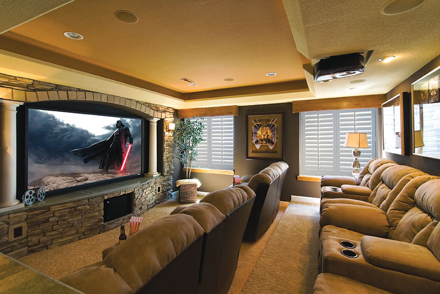 Image of: Small Basement Home Theater Ideas Contemporary