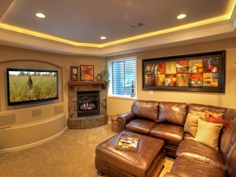 Image of: Small Basement Home Theater Ideas Cool