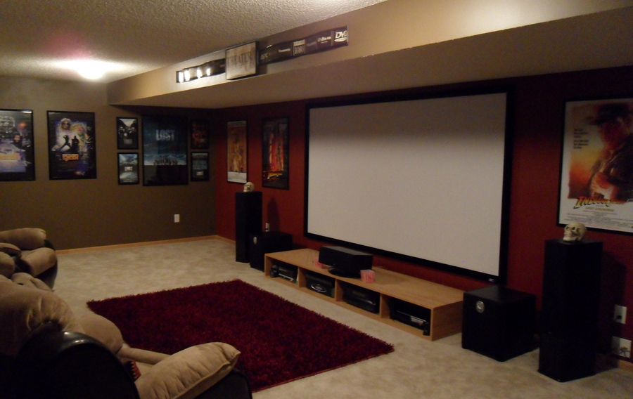 Image of: Small Basement Home Theater Ideas Design