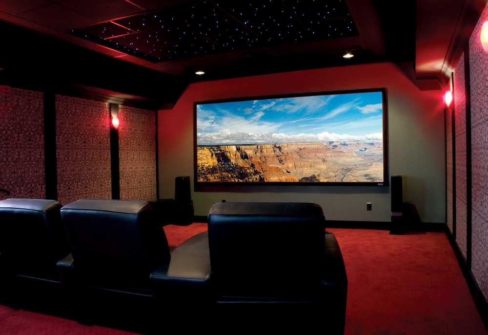 Image of: Small Basement Home Theater Ideas DIY