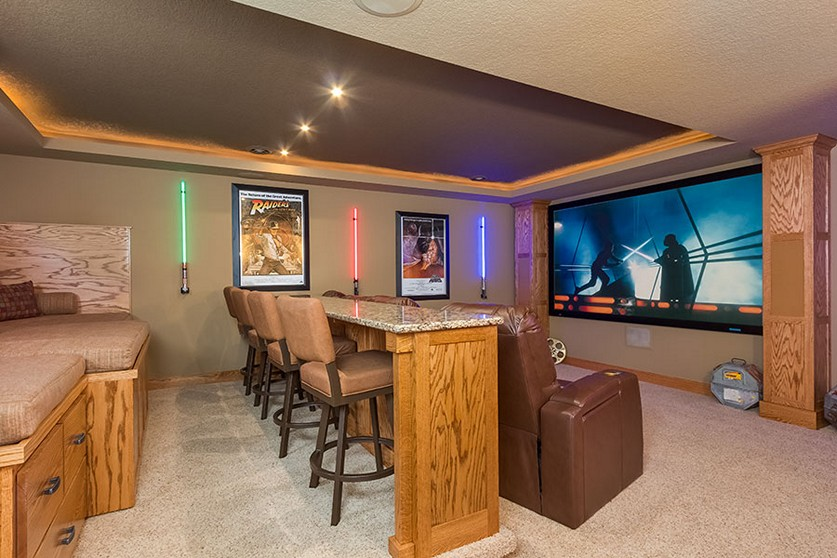 Image of: Small Basement Home Theater Ideas Nice