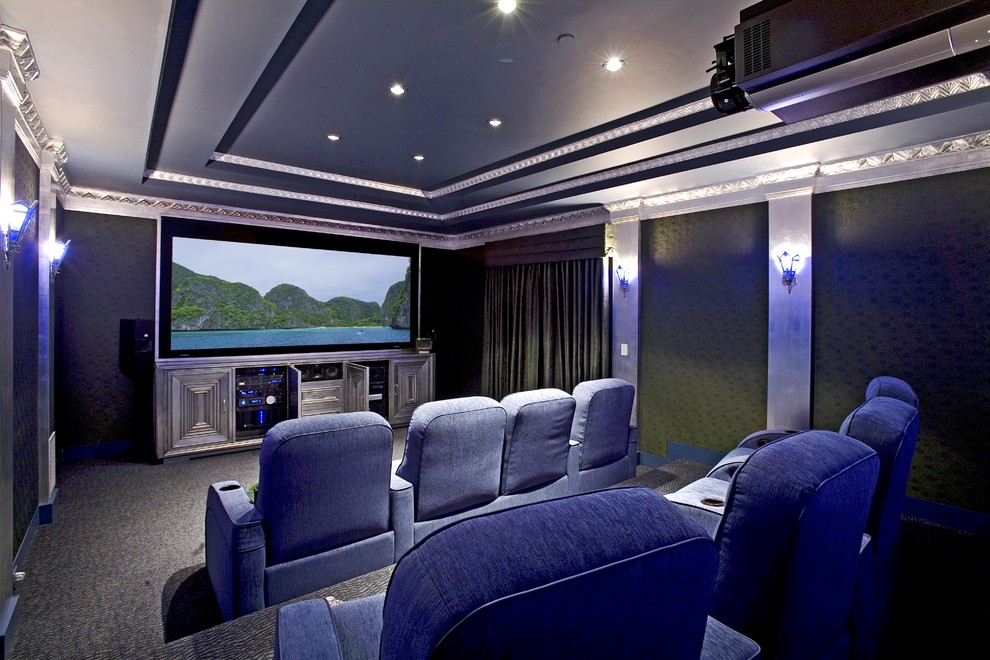 Image of: Small Basement Home Theater Ideas Picture