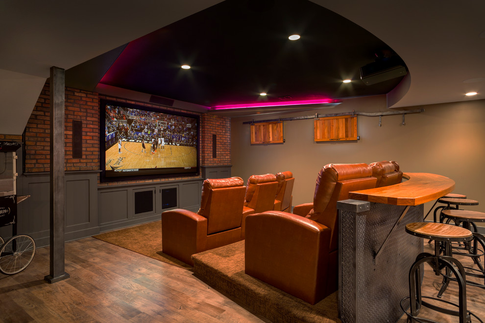 Image of: Small Basement Home Theater Ideas Review