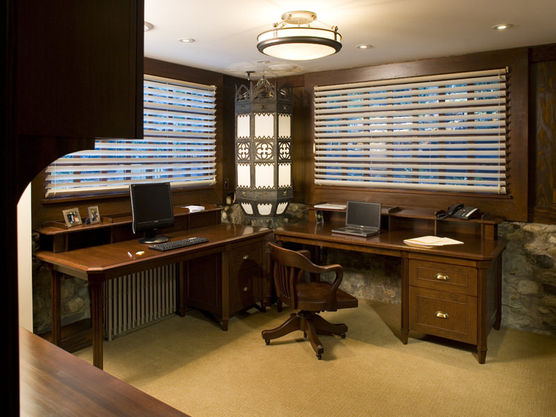 Small Basement Office Ideas Image