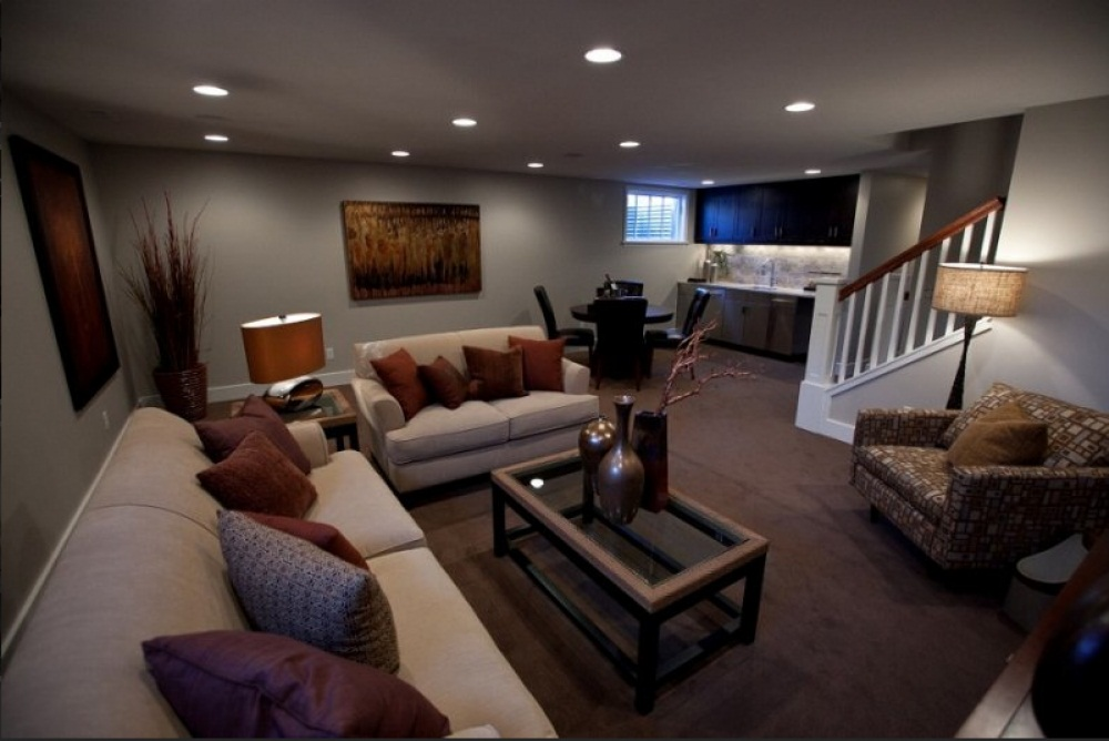 Image of: Small Basement Remodel Project