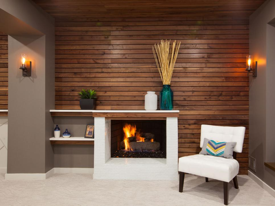 Small Basement Remodeling Ideas Fireplace