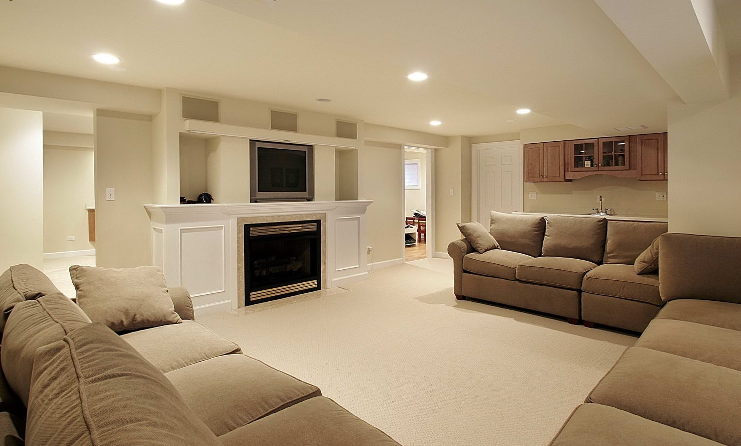 Small Basement Remodeling Ideas Sofa