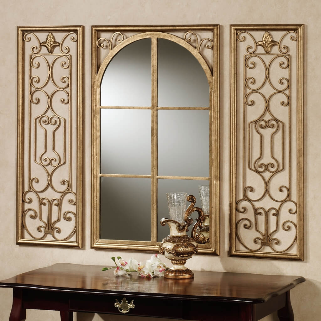 Small Decorative Wall Mirrors Wood Frame