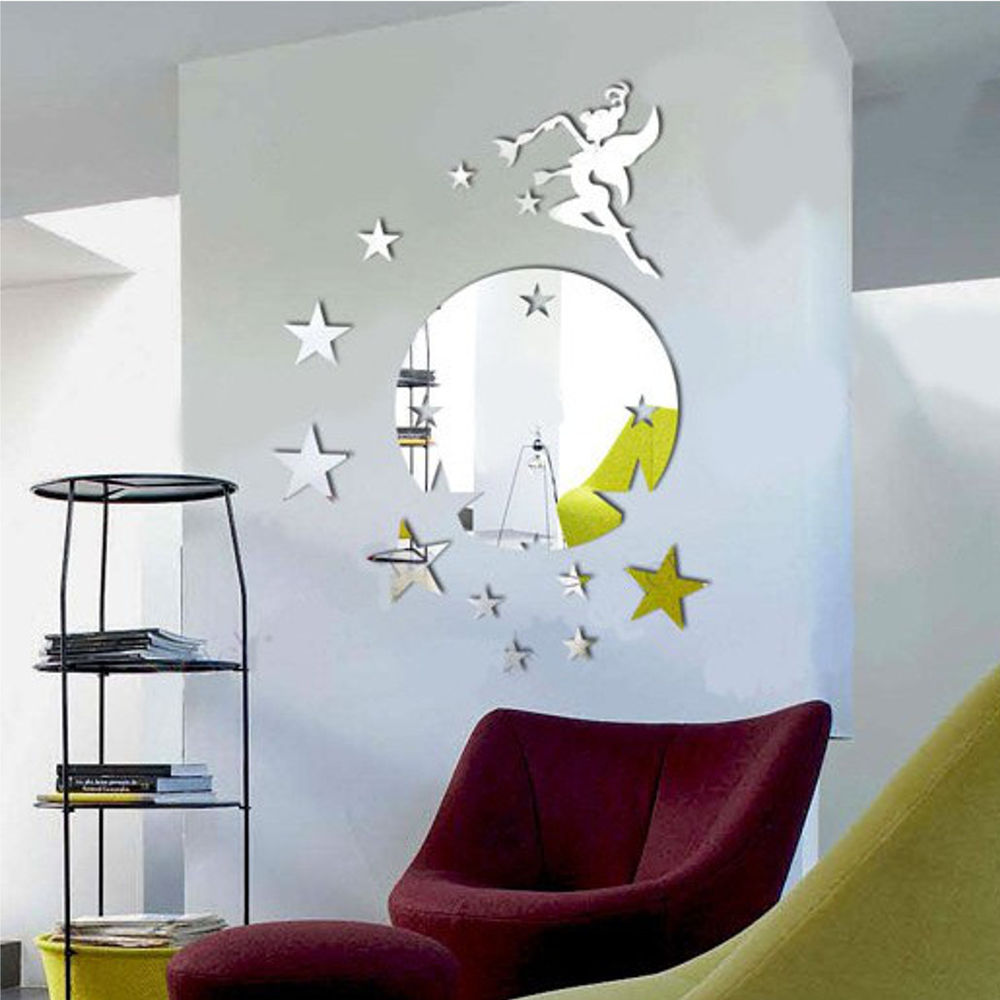 Picture of: Star Mirror Wall Decor DIY
