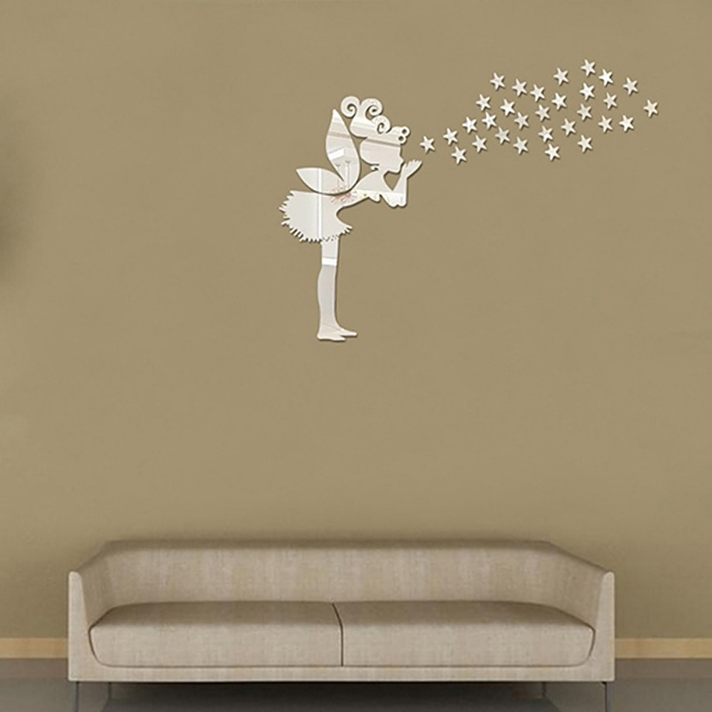 Image of: Star Mirror Wall Decor Fairy
