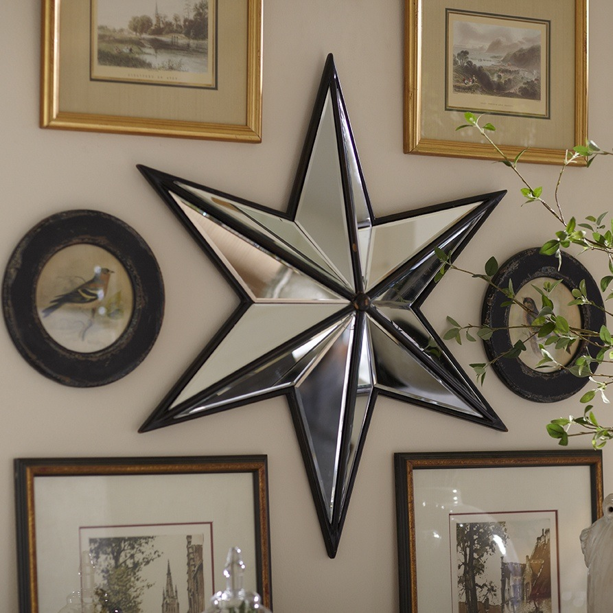 Image of: Star Mirror Wall Decor Ideas