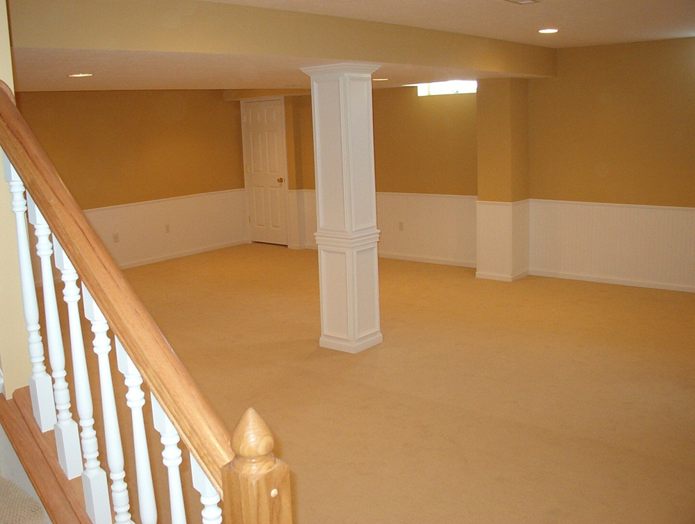 Image of: Style Ideas For Unfinished Basement Lighting
