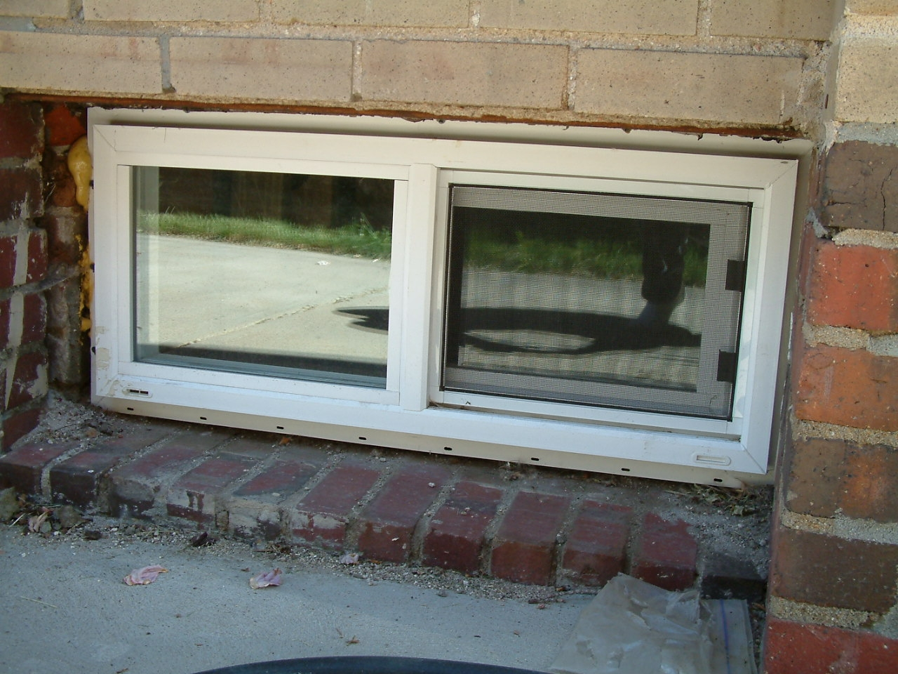 Stylish Sliding Basement Windows