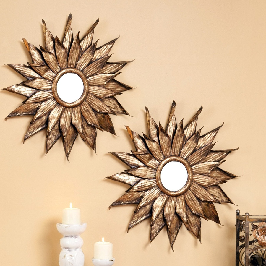 Sun Decorative Wall Mirrors For Living Room