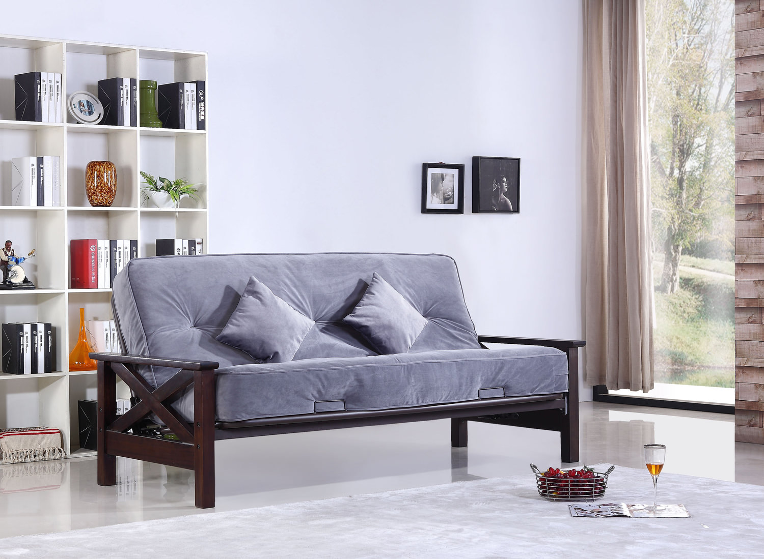 The Futon Frame And Mattress Set