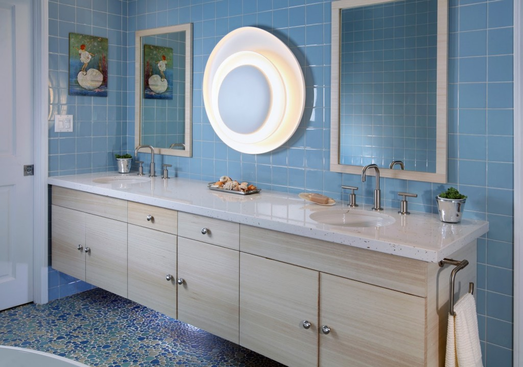 Picture of: Themed Seashell Wall Decor Bathroom
