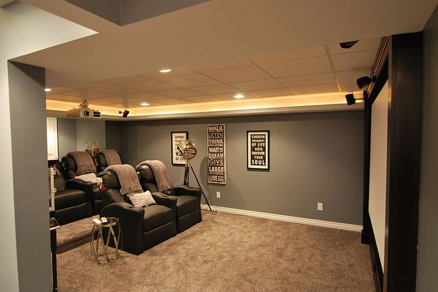 Image of: Top Ideas For Unfinished Basement Lighting