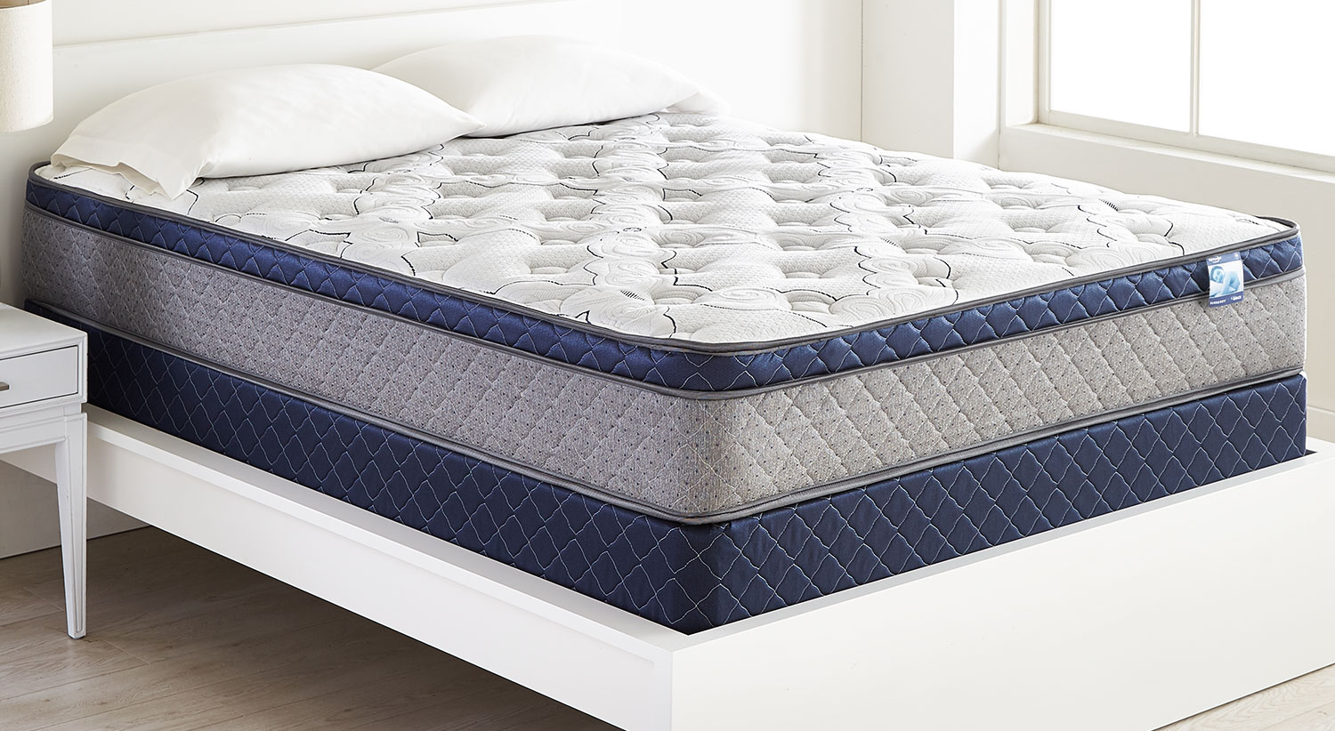 Top Queen Mattress And Boxspring Set