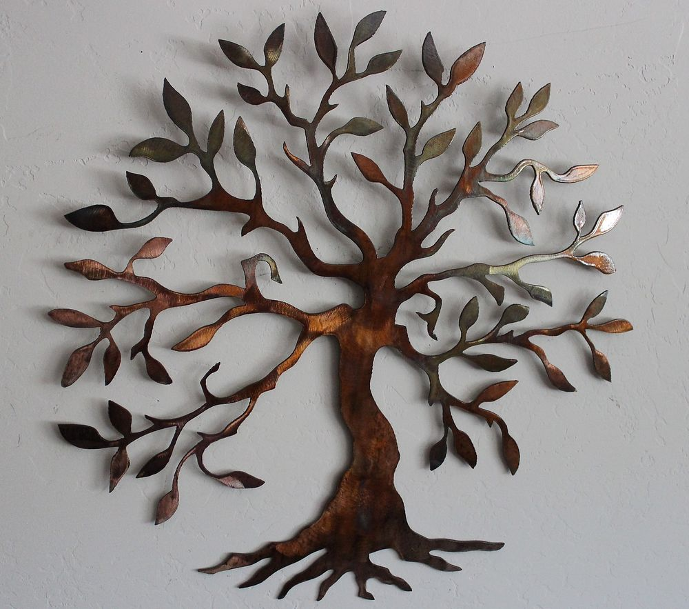 Picture of: Tree Large Wall Decor Ideas For Living Room