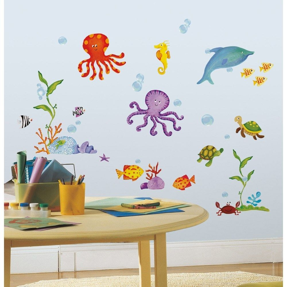 Tropical Kids Bathroom Wall Decor