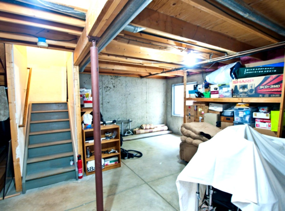 Image of: Unfinished Basement Lighting Picture
