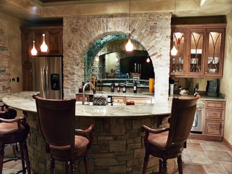 Picture of: Wet Bar Ideas For Basement Rustic