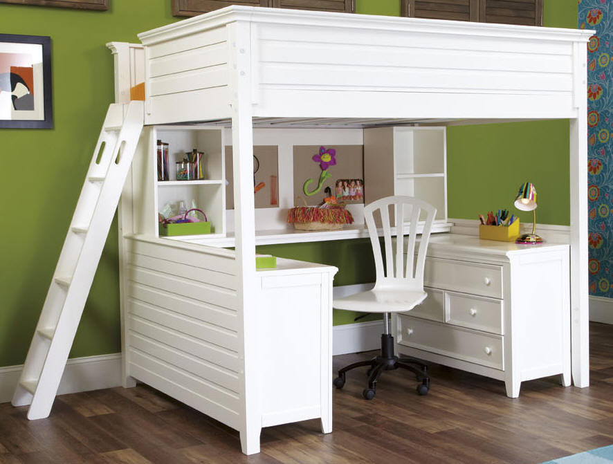 Image of: White Full Size Bunk Bed Mattress