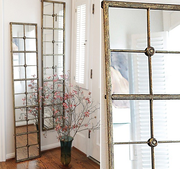 Picture of: Window Mirror Wall Decor Gold