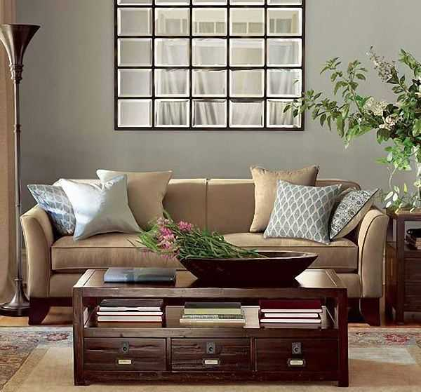 Picture of: Window Mirror Wall Decor Living Room
