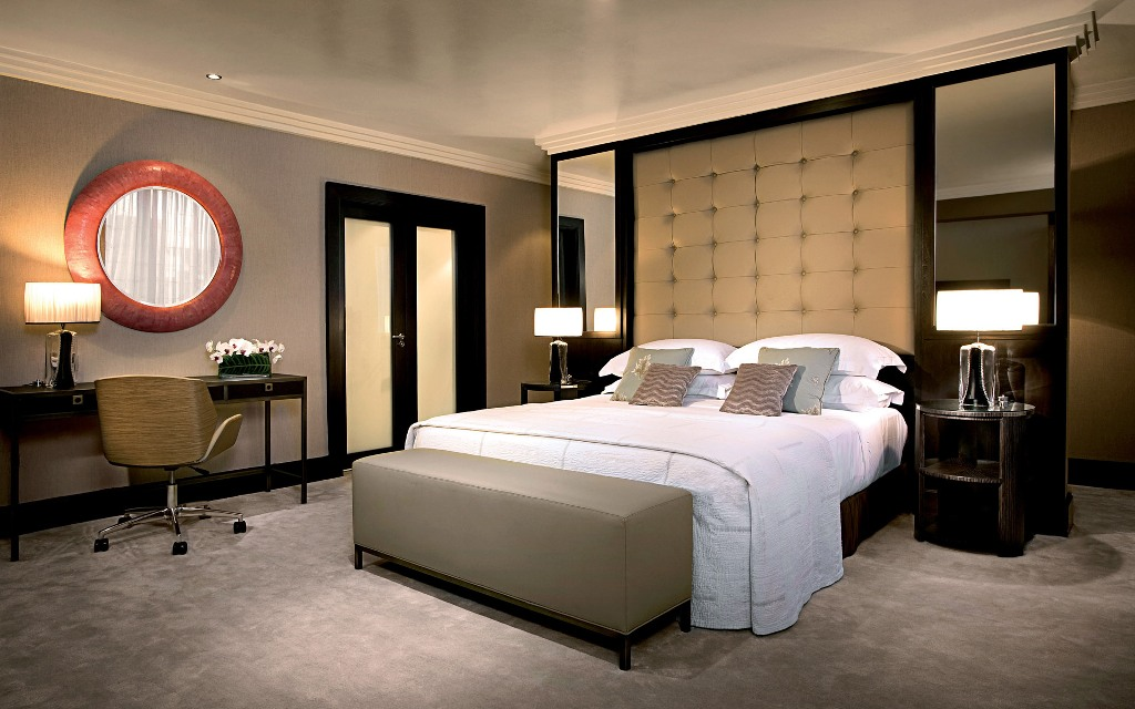 Wood Decorative Mirrors Bedroom Wall