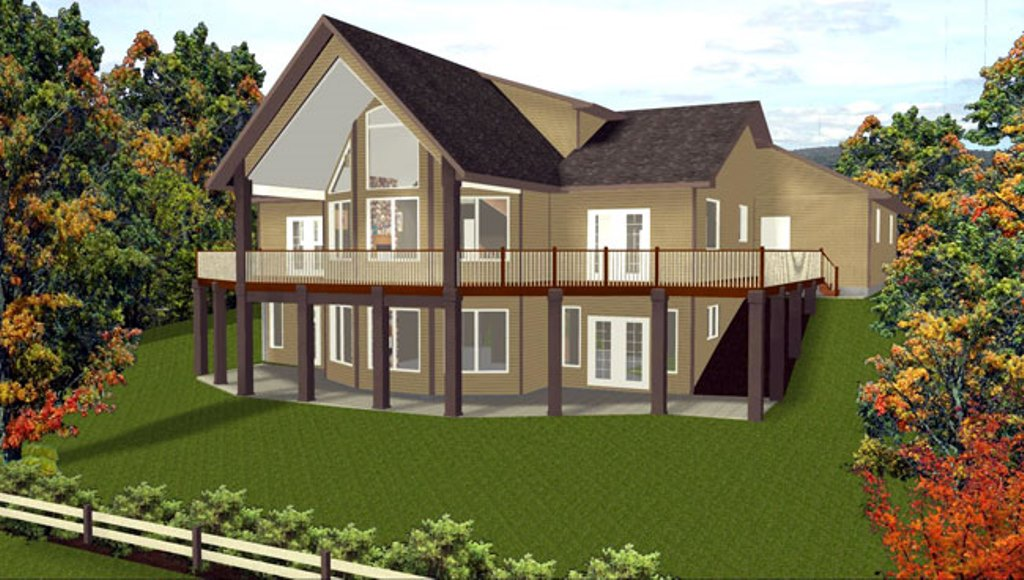 3D 4 Bedroom House Plans With Basement