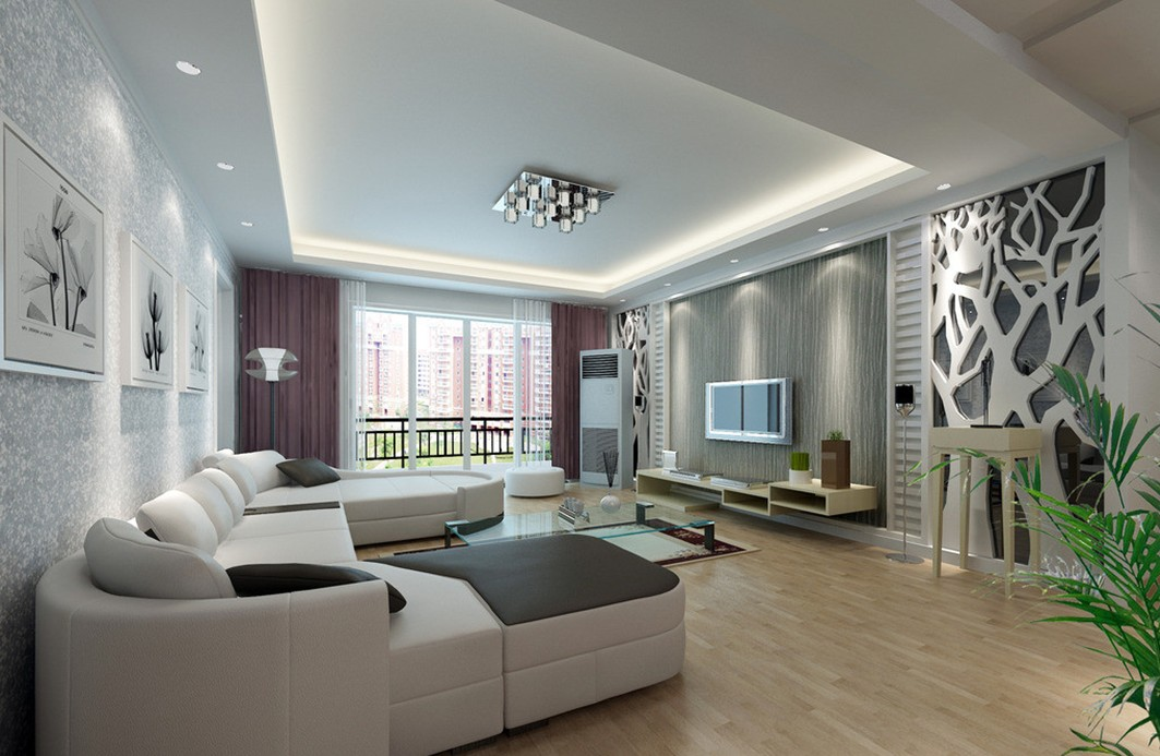 Image of: Amazing Modern Wall Decor for Living Room