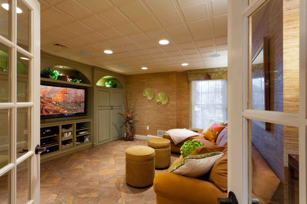 Image of: Awesome Basement Lighting Drop Ceiling