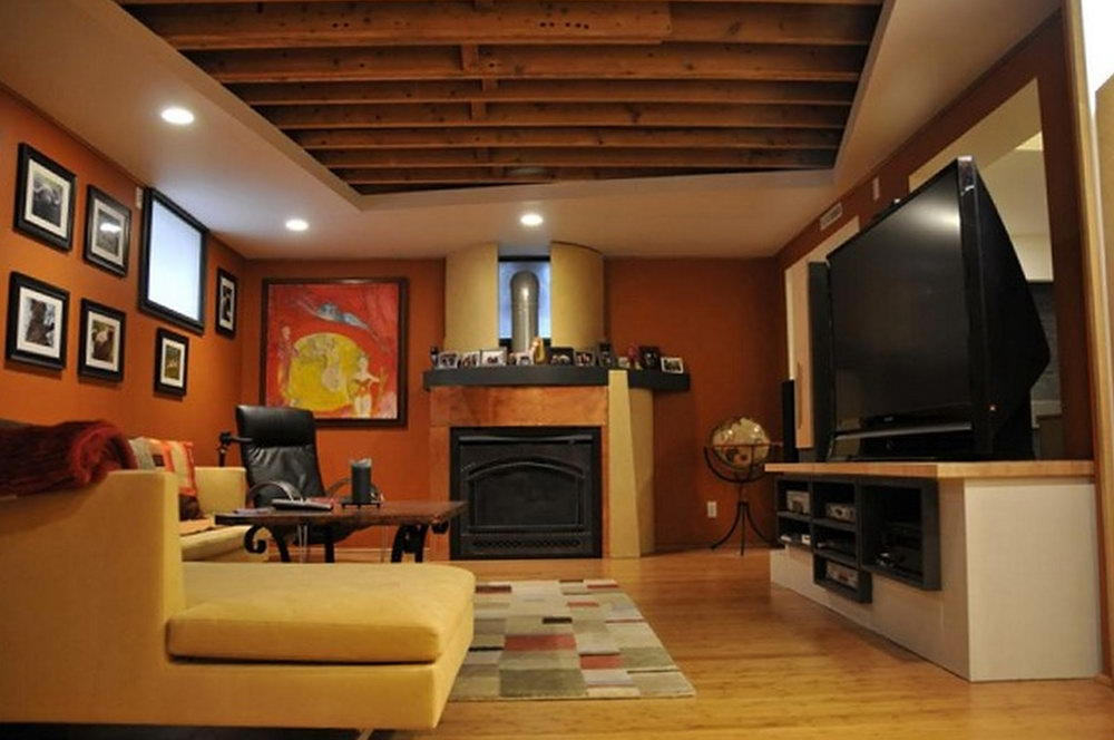 Image of: Awesome Cheap Basement Ceiling Ideas