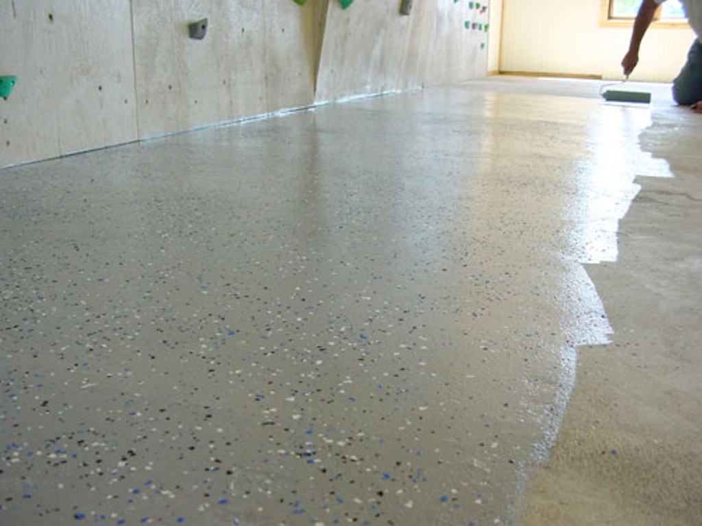 Image of: Basement Concrete Floor Paint and Stain