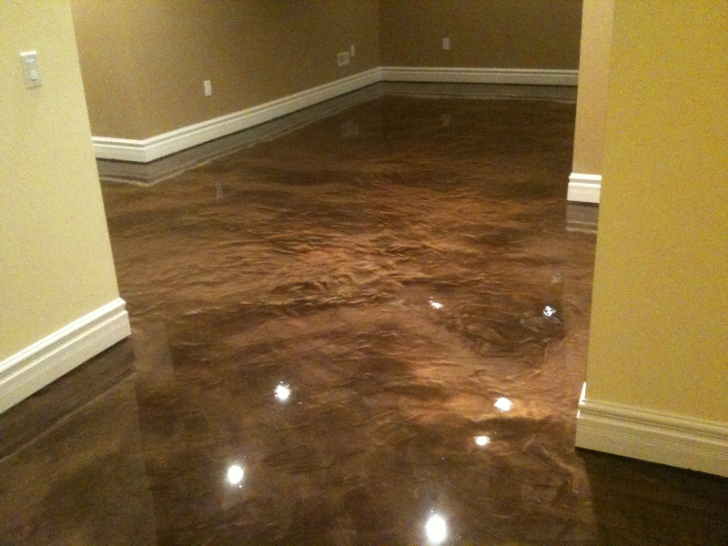 Image of: Basement Floor Paint Brown