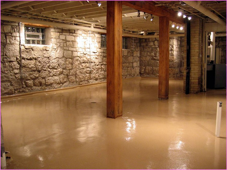 Image of: Basement Floor Paint Home