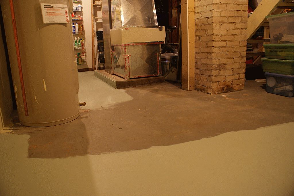 Image of: Basement Floor Paint Style