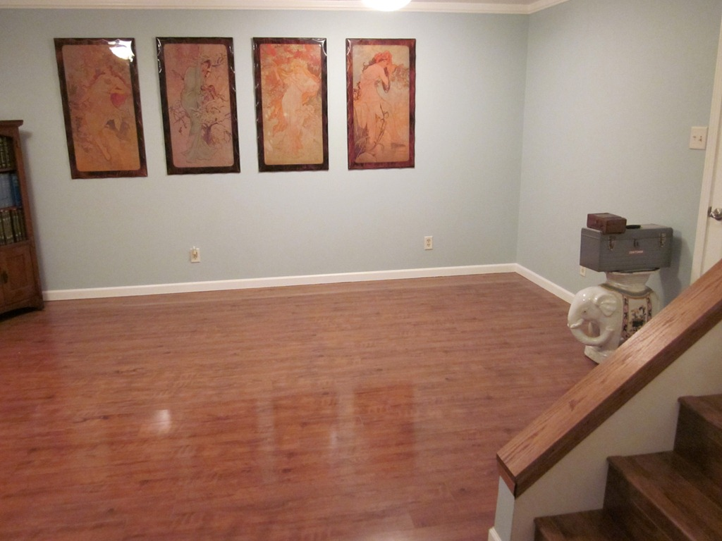 Image of: Basement Floor Paint Wood