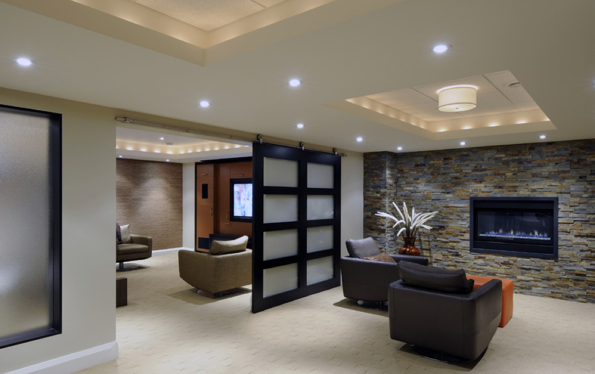 Image of: Basement Lighting Drop Ceiling Images