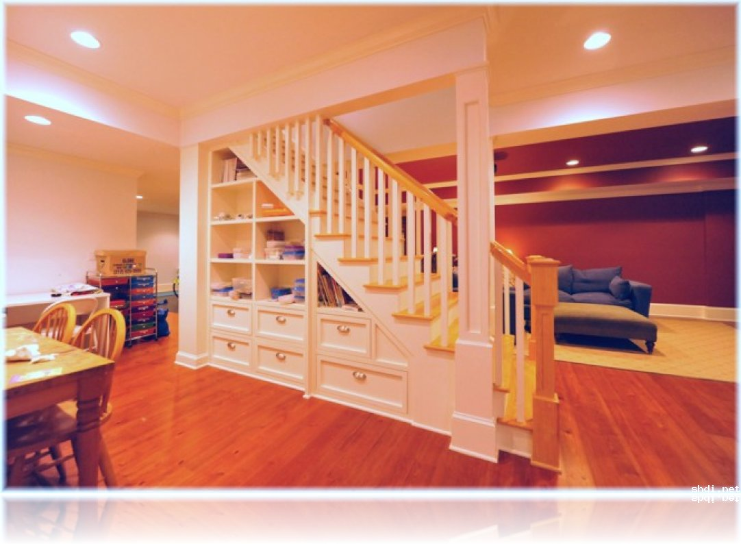 Basement Stairs Design Storage
