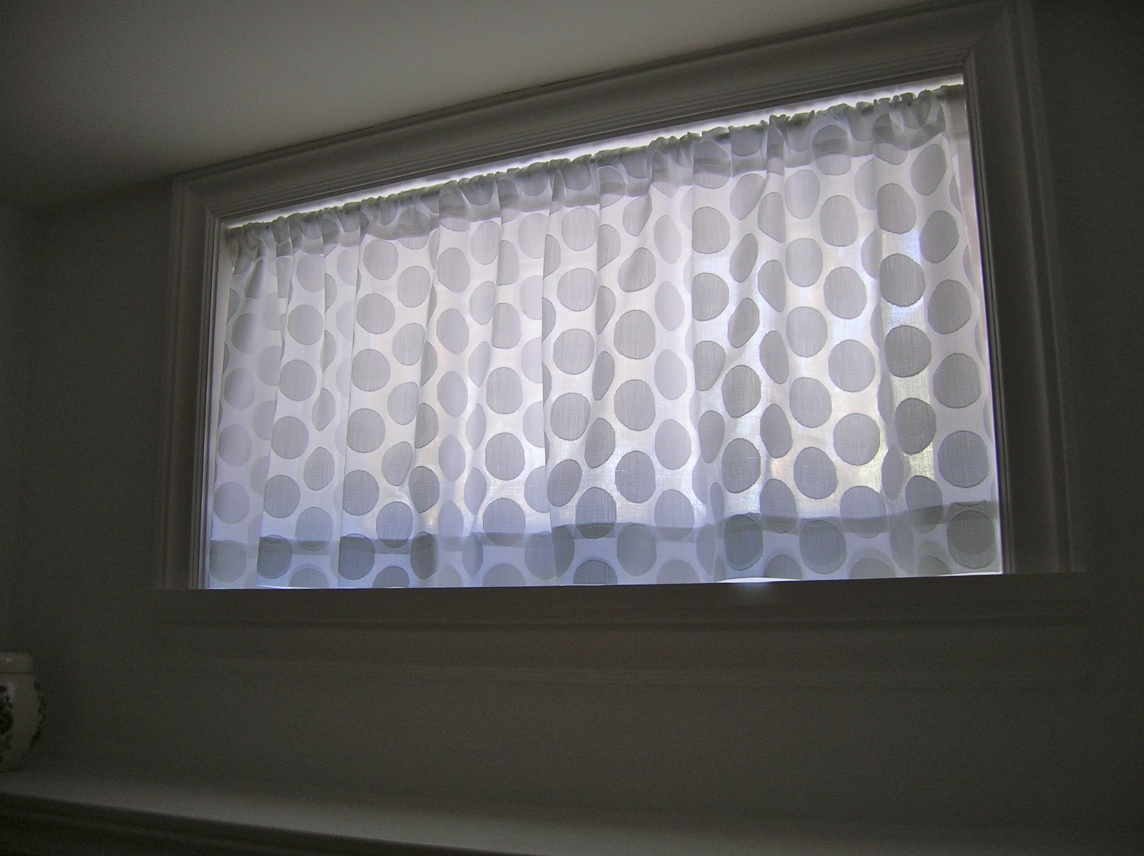 Basement Window Curtains Plan