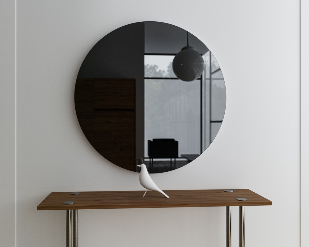 Image of: Black Wall Mirrors Decorative Pool
