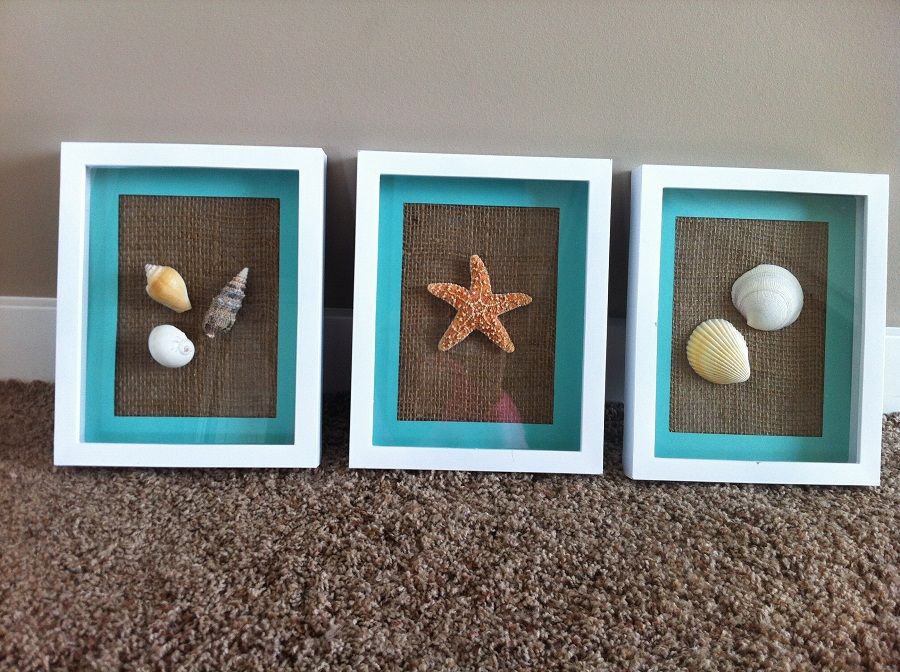 Image of: Chic Beach Wall Decor for Bathroom
