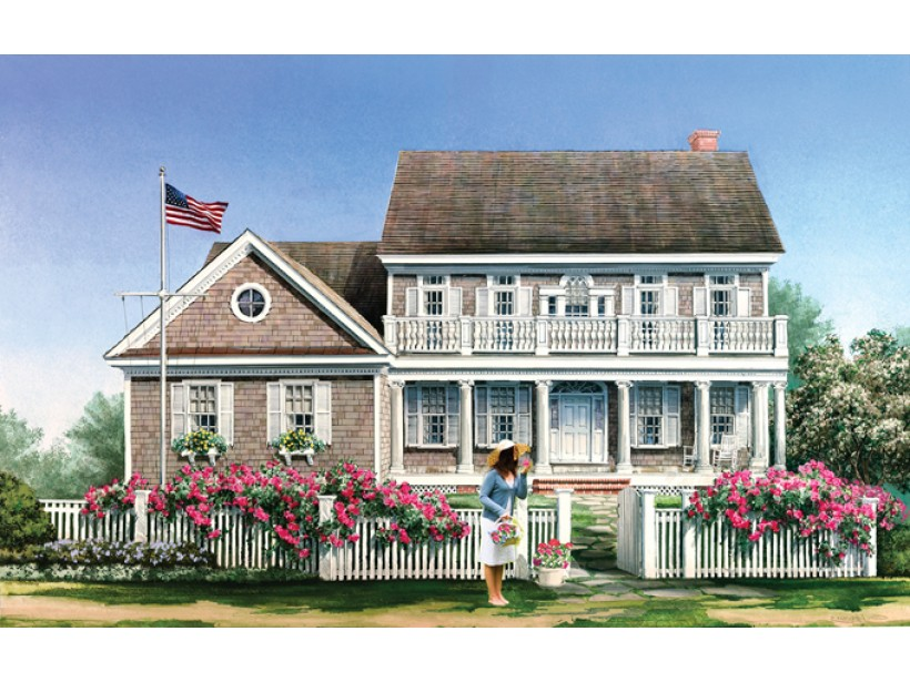 Colonial 4 Bedroom House Plans With Basement